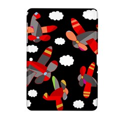 Playful Airplanes  Samsung Galaxy Tab 2 (10 1 ) P5100 Hardshell Case  by Valentinaart