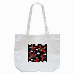 Playful Airplanes  Tote Bag (white) by Valentinaart
