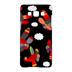 Playful Airplanes  Samsung Galaxy A5 Hardshell Case  by Valentinaart