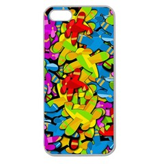 Colorful Airplanes Apple Seamless Iphone 5 Case (clear) by Valentinaart