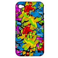 Colorful Airplanes Apple Iphone 4/4s Hardshell Case (pc+silicone) by Valentinaart