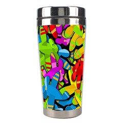 Colorful Airplanes Stainless Steel Travel Tumblers by Valentinaart