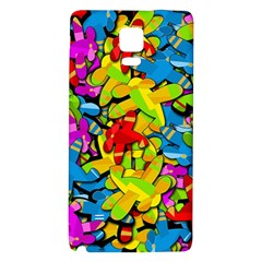 Colorful Airplanes Galaxy Note 4 Back Case by Valentinaart