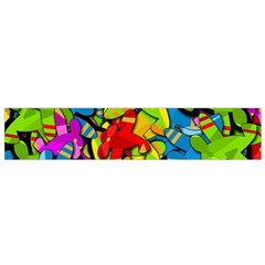 Colorful Airplanes Flano Scarf (small) by Valentinaart
