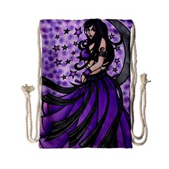 Violet Moon Belly Dancer Drawstring Bag (small)