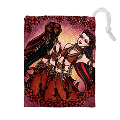 Gemini Tribal Twins Drawstring Pouches (extra Large)