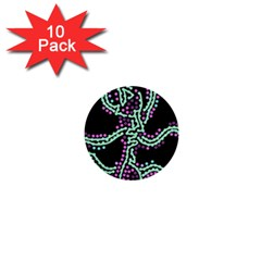 Playful Dots 1  Mini Buttons (10 Pack)  by Valentinaart