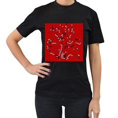 Red Fantasy Women s T Shirt (black) (two Sided) by Valentinaart