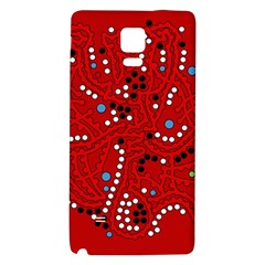 Red Fantasy Galaxy Note 4 Back Case by Valentinaart