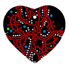 Red Fantasy 2 Heart Ornament (2 Sides) by Valentinaart