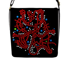 Red Fantasy 2 Flap Messenger Bag (l)  by Valentinaart