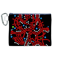 Red Fantasy 2 Canvas Cosmetic Bag (xl) by Valentinaart
