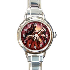 Gemini Tribal Twins Round Italian Charm Watch