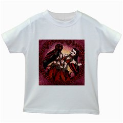 Gemini Tribal Twins Kids White T Shirts