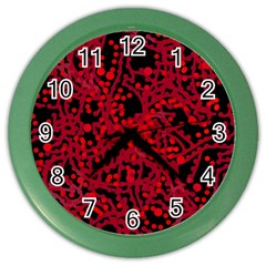 Red Emotion Color Wall Clocks by Valentinaart