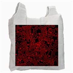 Red Emotion Recycle Bag (one Side) by Valentinaart