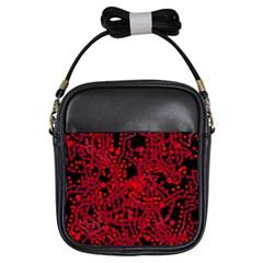 Red Emotion Girls Sling Bags by Valentinaart
