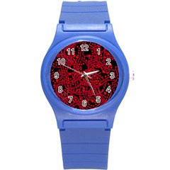 Red Emotion Round Plastic Sport Watch (s) by Valentinaart