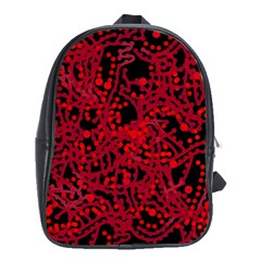 Red Emotion School Bags (xl)  by Valentinaart
