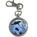 SWIMMING DOLPHINS KEY CHAIN WATCH