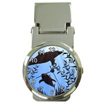 SWIMMING DOLPHINS MONEYCLIP WATCH