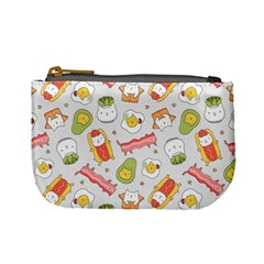 Funny Cat Food Succulent Pattern  Mini Coin Purses by Mishacat
