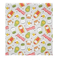 Funny Cat Food Succulent Pattern  Shower Curtain 66  X 72  (large)  by Mishacat