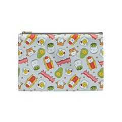 Funny Cat Food Succulent Pattern  Cosmetic Bag (medium)  by Mishacat