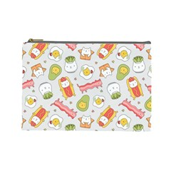 Funny Cat Food Succulent Pattern  Cosmetic Bag (large)  by Mishacat