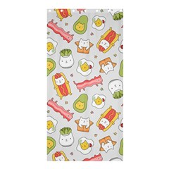 Funny Cat Food Succulent Pattern  Shower Curtain 36  X 72  (stall)  by Mishacat