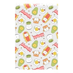 Funny Cat Food Succulent Pattern  Shower Curtain 48  X 72  (small)  by Mishacat