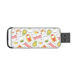 Funny Cat Food Succulent Pattern  Portable Usb Flash (two Sides) by Mishacat