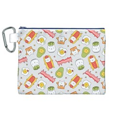 Funny Cat Food Succulent Pattern  Canvas Cosmetic Bag (xl)  by Mishacat