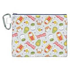 Funny Cat Food Succulent Pattern  Canvas Cosmetic Bag (xxl)  by Mishacat