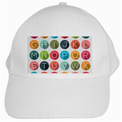 Alphabet White Cap by AnjaniArt