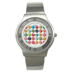 Alphabet Stainless Steel Watch by AnjaniArt