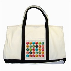 Alphabet Two Tone Tote Bag by AnjaniArt