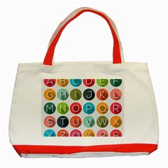 Alphabet Classic Tote Bag (red) by AnjaniArt