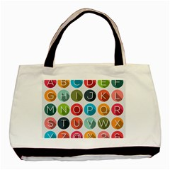 Alphabet Basic Tote Bag (two Sides) by AnjaniArt