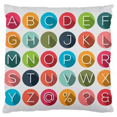 Alphabet Large Cushion Case (two Sides) by AnjaniArt
