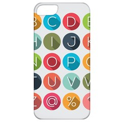 Alphabet Apple Iphone 5 Classic Hardshell Case by AnjaniArt