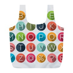 Alphabet Full Print Recycle Bags (l)  by AnjaniArt