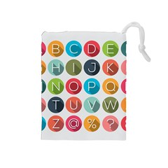 Alphabet Drawstring Pouches (medium)  by AnjaniArt