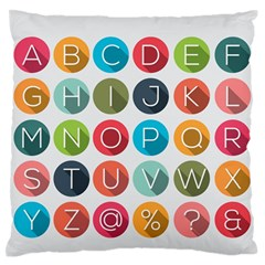Alphabet Standard Flano Cushion Case (one Side) by AnjaniArt