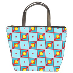 Shapes In Squares Pattern                                                                                                            bucket Bag by LalyLauraFLM