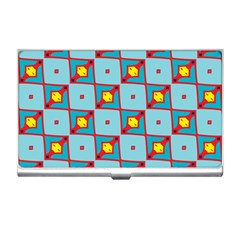 Shapes In Squares Pattern                                                                                                            business Card Holder by LalyLauraFLM