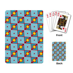 Shapes In Squares Pattern                                                                                                            			playing Cards Single Design by LalyLauraFLM