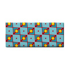 Shapes In Squares Pattern                                                                                                            			hand Towel by LalyLauraFLM