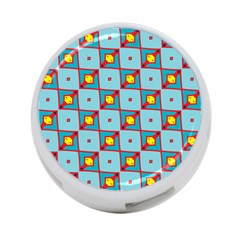 Shapes In Squares Pattern                                                                                                            4 Port Usb Hub (one Side) by LalyLauraFLM