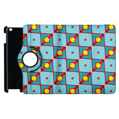 Shapes In Squares Pattern                                                                                                           			apple Ipad 2 Flip 360 Case by LalyLauraFLM
